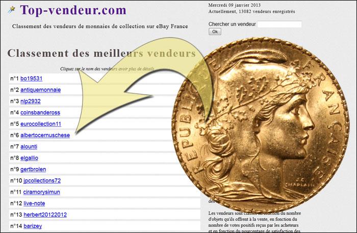 Capture d'écran du site top vendeur.com