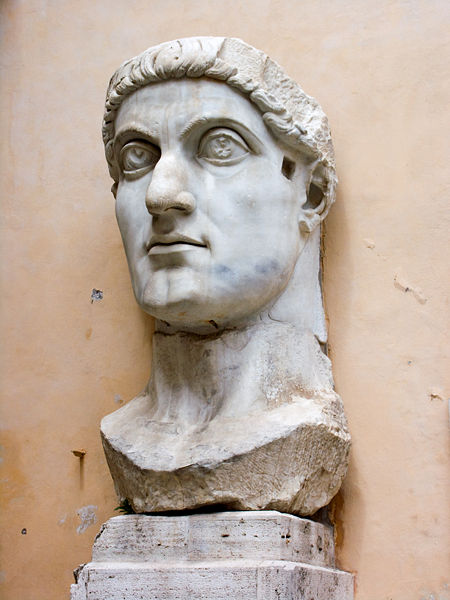 Portrait de Constantin - Marbre d'une statue colossale de Constantin, musée du Capitole, Rome