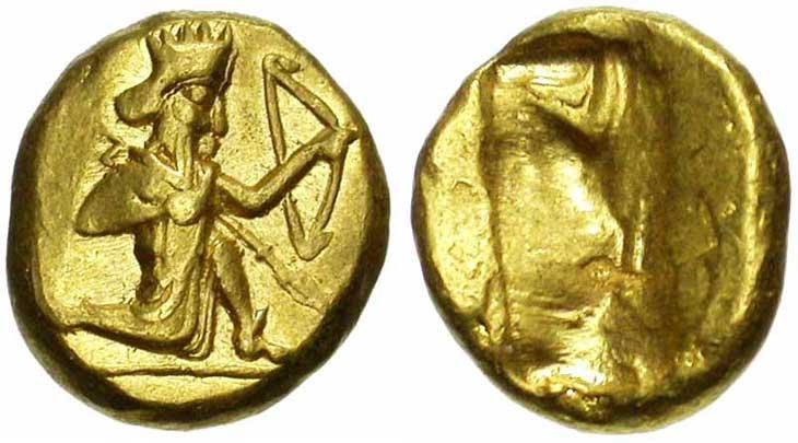 Photo de Darique, la monnaie d'or de Darius Ier