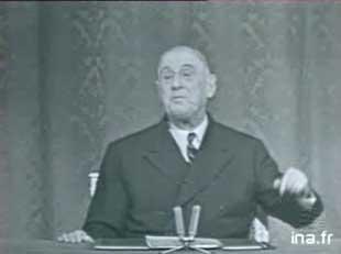 Photo de De Gaulle lors de la conférence de presse d'octobre 1966