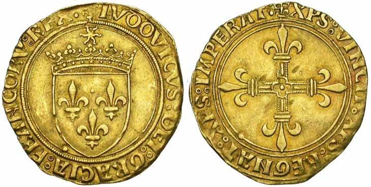 Exemple d'écu d'or frappé sous le règne de Louis XII