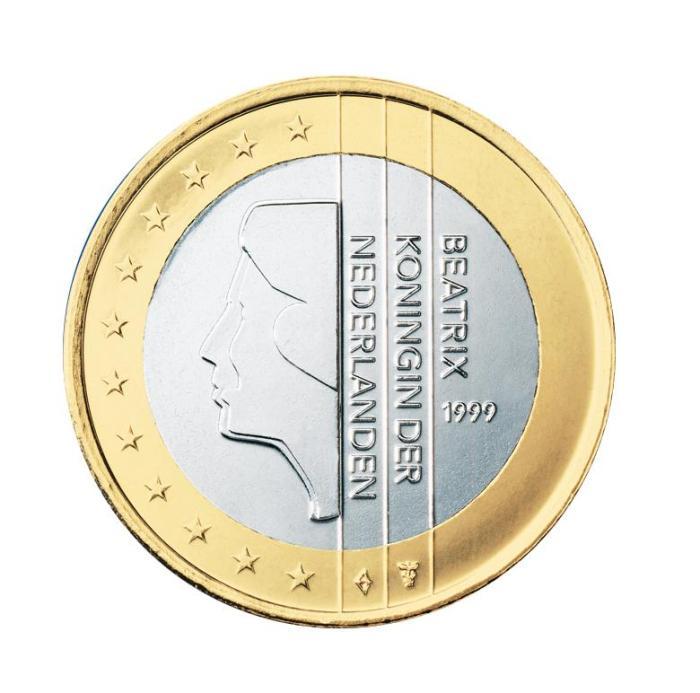 14 Pièce 1 euro Pays-Bas NL 100 1999