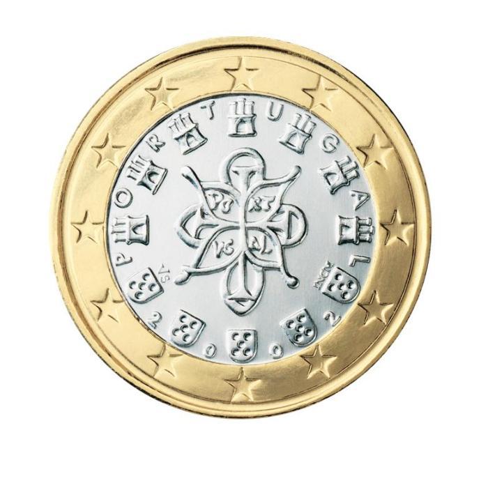 15 Pièce 1 euro Portugal PT 100 2002