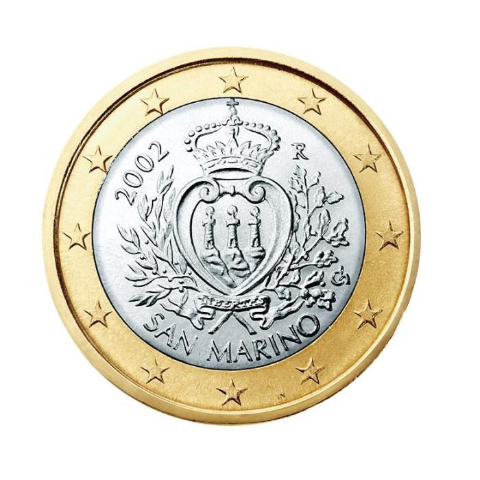 18 Pièce 1 euro San-Marin SM 100 2002