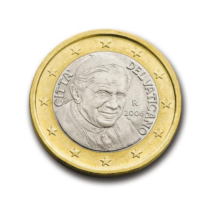20 Pièce 1 euro Vatican VA 100 2006