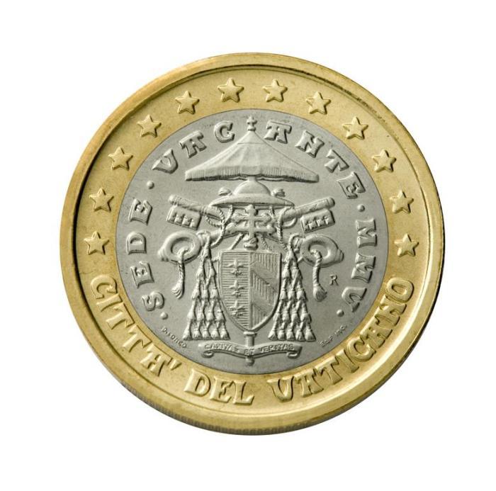 21 Pièce 1 euro Vatican VA 100 sede vacante