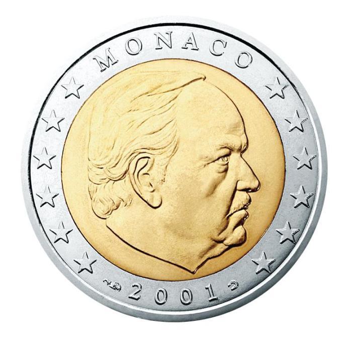 11 Pièce 2 euro Monaco MN 200 2001