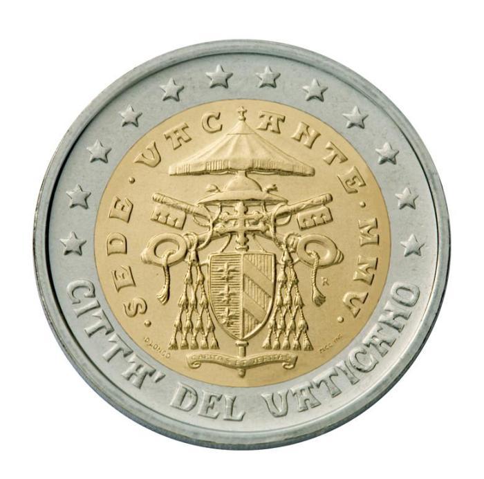 20 Pièce 2 euro Vatican VA 200 sede vacante