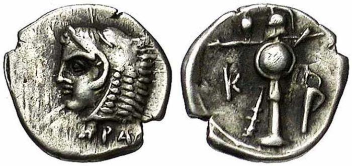 1 Monnaie grecque d'Heraclée du Pont revers trophée