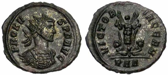 22 Antoninien de Probus revers captifs et trophée