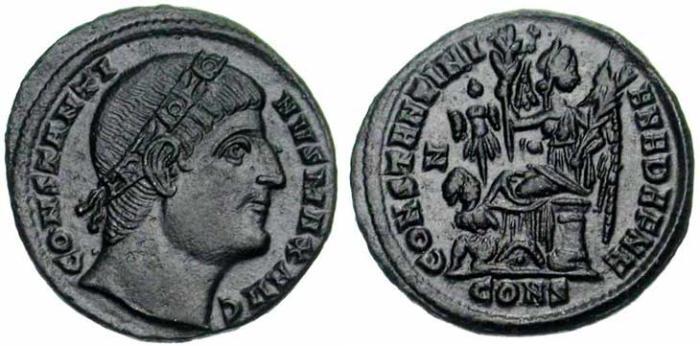 23 Follis de Constantin Ier revers Victoire, captif et trophée