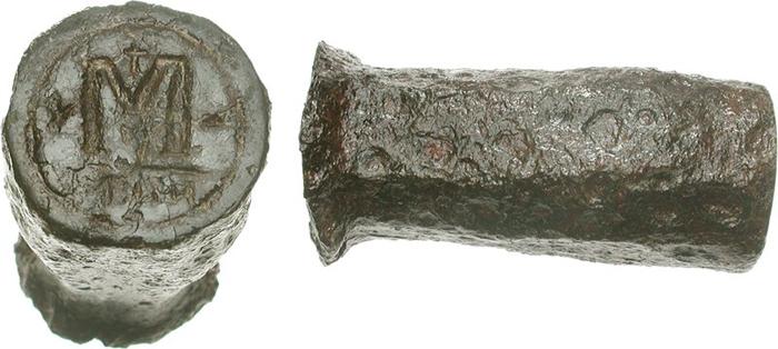 3. Coin monétaire byzantin (Justin Ier 518-527 après JC)