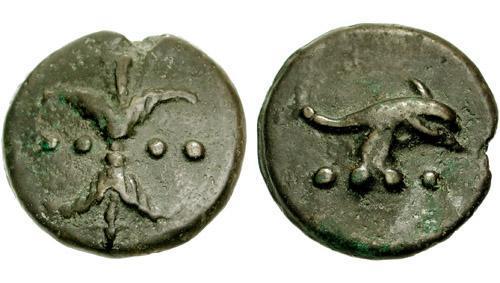 6 Image de dauphin sur un triens anonyme de la République romaine