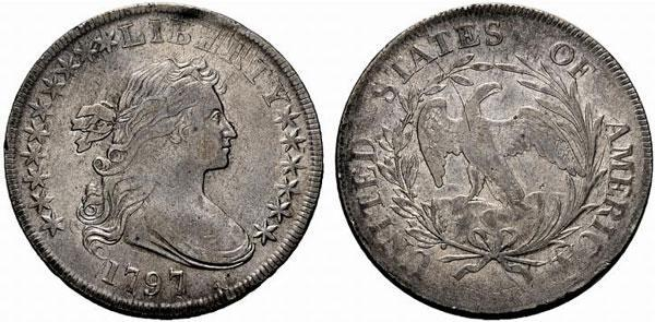 2 Liberty Bust dollar Plain Eagle (1795-1798)
