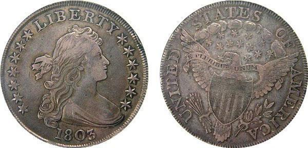 3 Liberty Bust Dollar Eagle and Shield (1798-1804)
