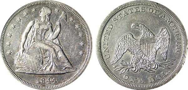 5 Liberty Seated dollar (1840-1873)