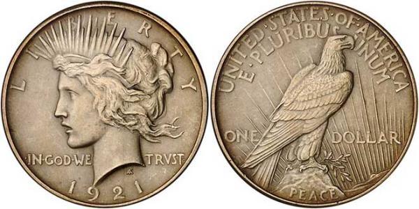 8 Peace dollar (1921-1935)