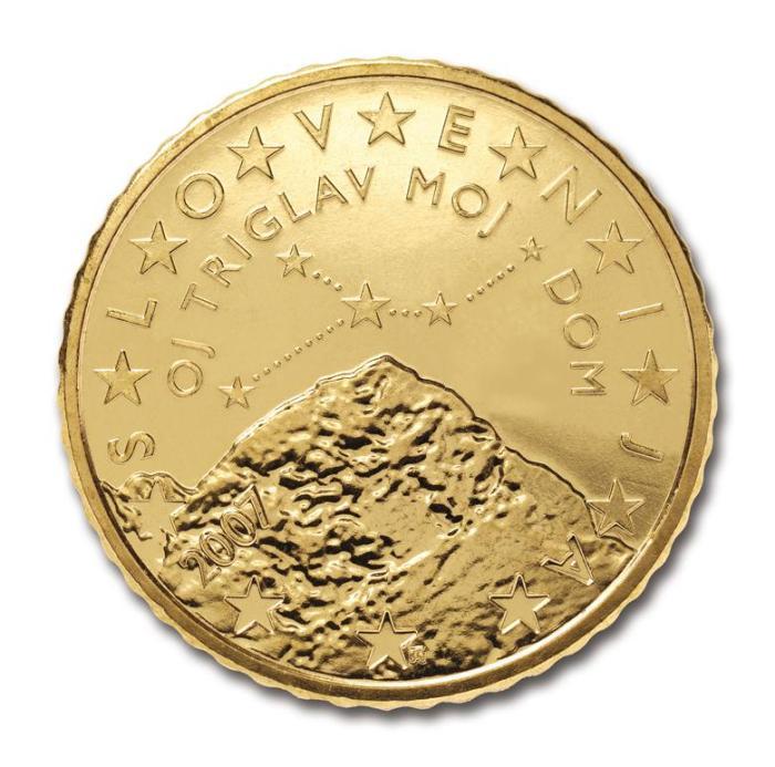 15 Pièce 50 centimes Slovénie SI 050 2007
