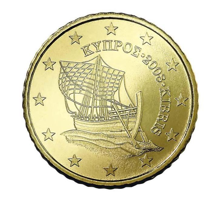2 Pièce 50 centimes Chypre CY 050 2007