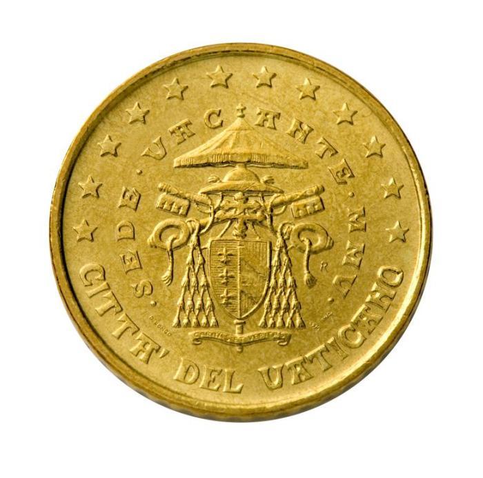 20 Pièce 50 centimes Vatican VA 050 sede vacante