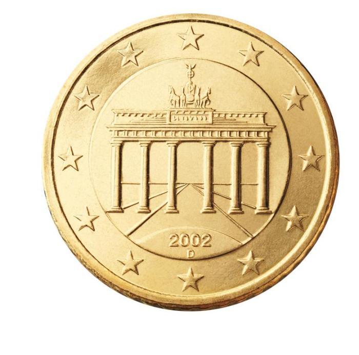 3 Pièce 50 centimes Allemagne DE 050 2002