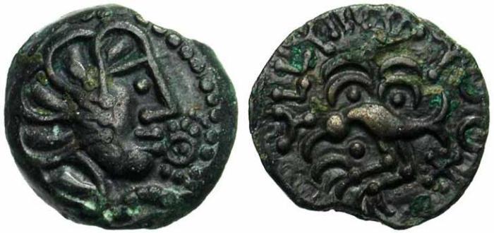 11. Gaule Celtique, Senons, bronze. Type à l'aigle