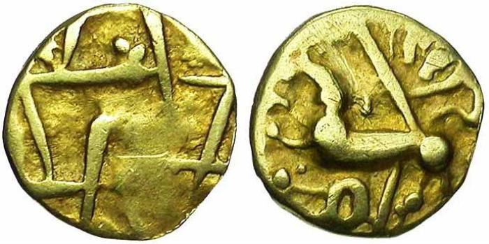 9. Gaule celtique, Estuaire de la Seine, quart de statère en or