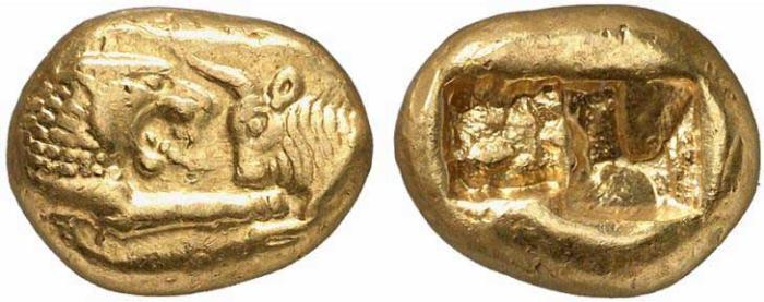 1 Monnaie Grecque de Lydie Statère de Crésus
