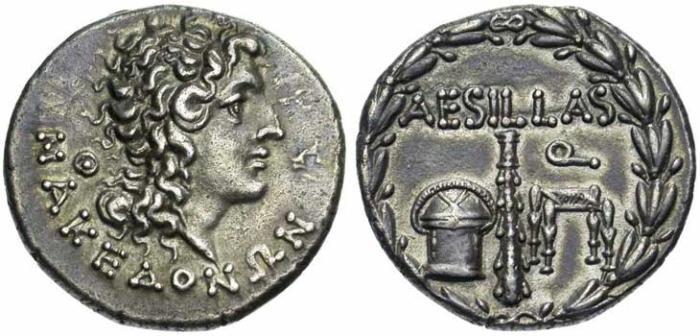 10 Monnaie grecque de Macédoine sous domination romaine