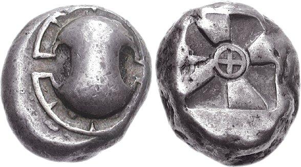 Exemple de monnaie grecque archaïque.