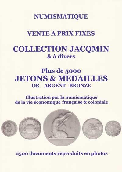 Jetons et médailles : couverture de la vente Jacqmin organisée par la Maison Platt