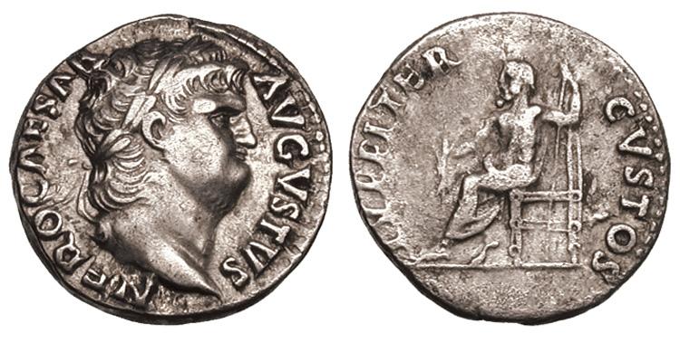Jupiter sur une monnaie romaine : photo n°11