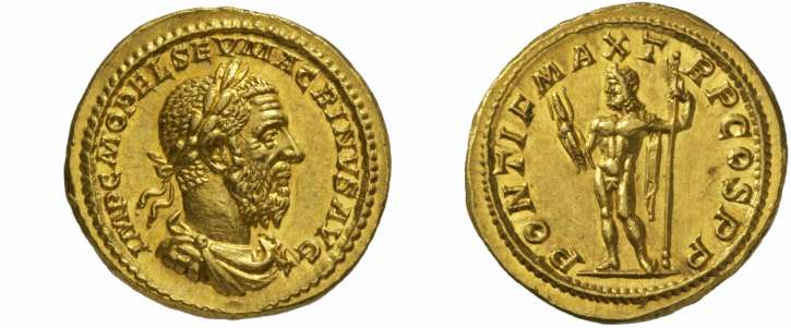 Jupiter sur une monnaie romaine : photo n°13
