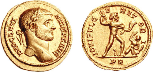 Jupiter sur une monnaie romaine : photo n°16
