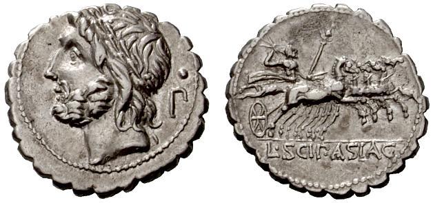 Jupiter sur une monnaie romaine : photo n°3