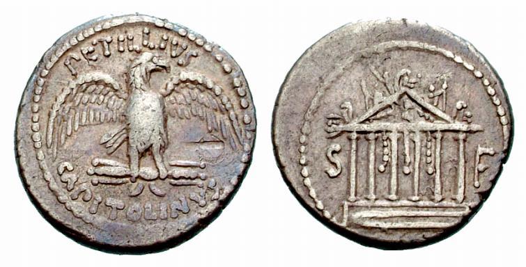 Jupiter sur une monnaie romaine : photo n°4