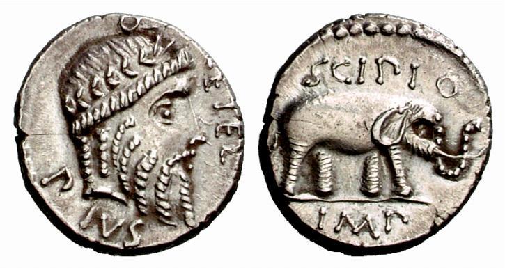 Jupiter sur une monnaie romaine : photo n°5