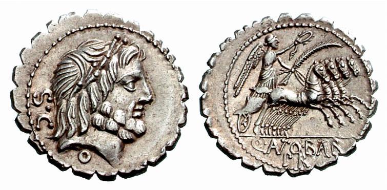 Jupiter sur une monnaie romaine : photo n°6