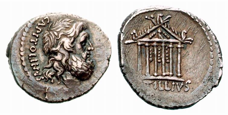 Jupiter sur une monnaie romaine : photo n°2