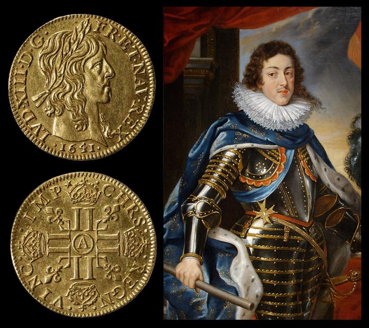 Louis XIII par Rubens - Louis d'or