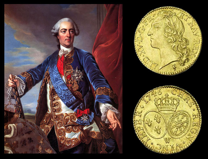 Louis XV par Louis-Michel van Loo - Double Louis d'or