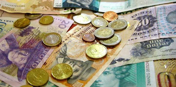 Exemple de monnaies contemporaines variees