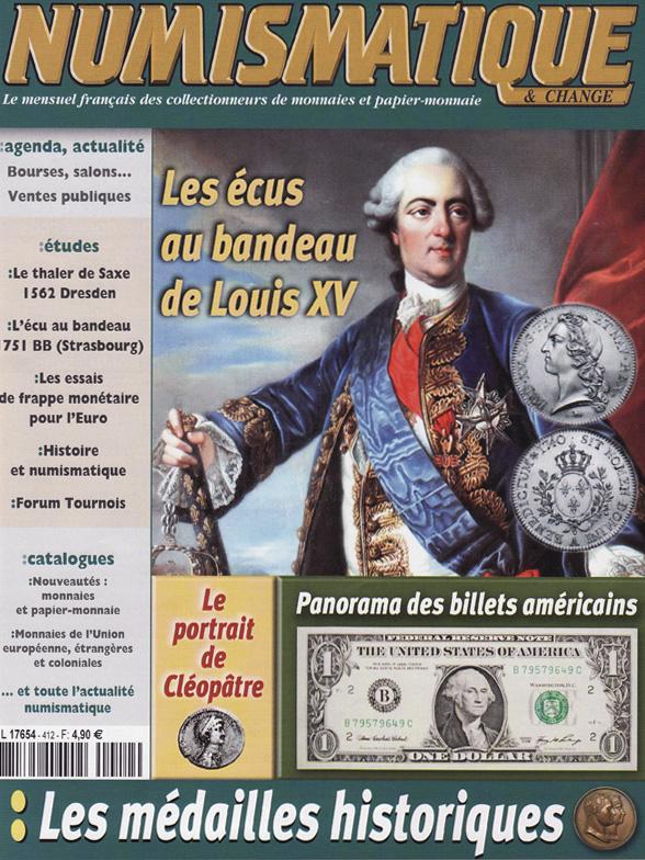 Couverture Numismatique et Change 412 - février 2010