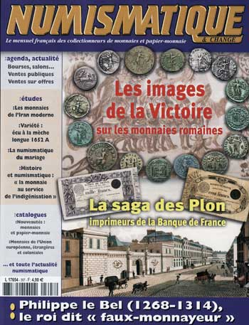 Couverture du Magazine Numismatique et Change n°397 (octobre 2008)