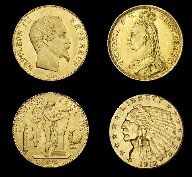 Quelques monnaies d'or...