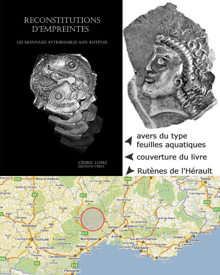 Couverte du livre de Cédric Lopez sur les monnaies attribuables aux Rutènes