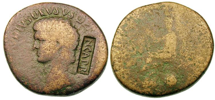 Sesterce de Nero Claudius Drusus