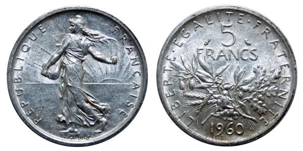 Titre de la piece de 5 francs Semeuse