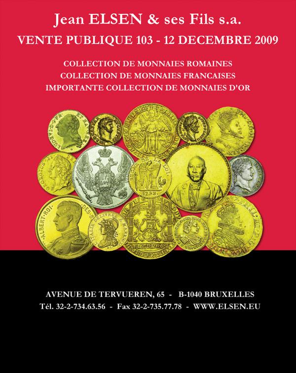 Vente aux enchères de monnaies Elsen n°103