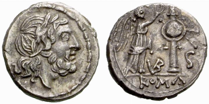 Jupiter sur une monnaie romaine : photo n°7